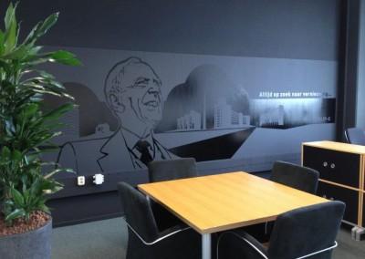 muursticker kantoor - illustratie Lotte Mulder
