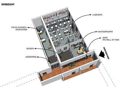 2 ruimtelijke birdview ontwerp