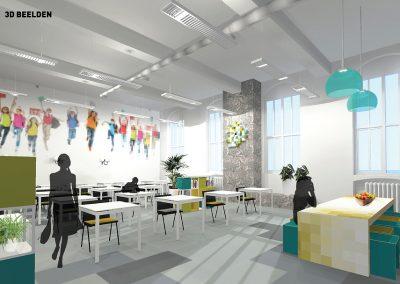 3 ontwerp grote ruimte met pixeltafel