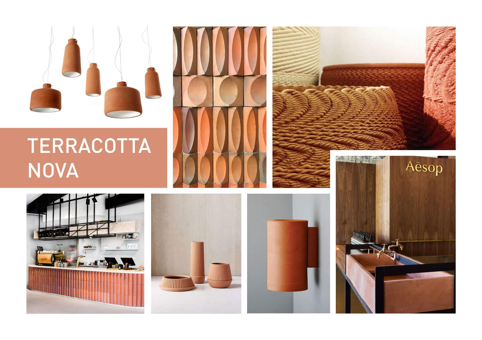 Kleurtrend Roze Interieur : Terracotta nova moodboard kleurtrend trendkleur terra roza
