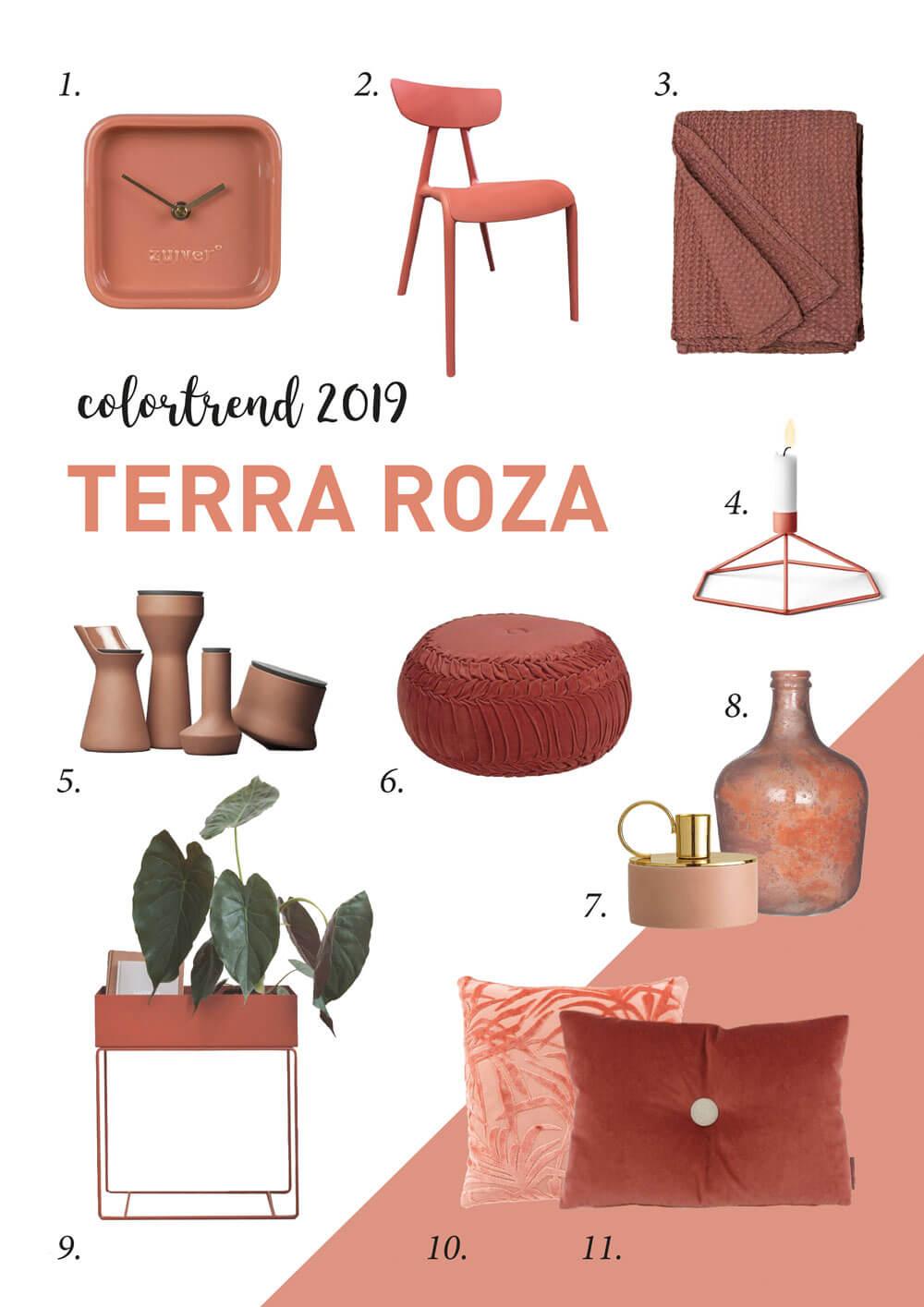 trendkleur 2019 shoppen 11 woonproducten in terra roza een warme roze kleurtrend