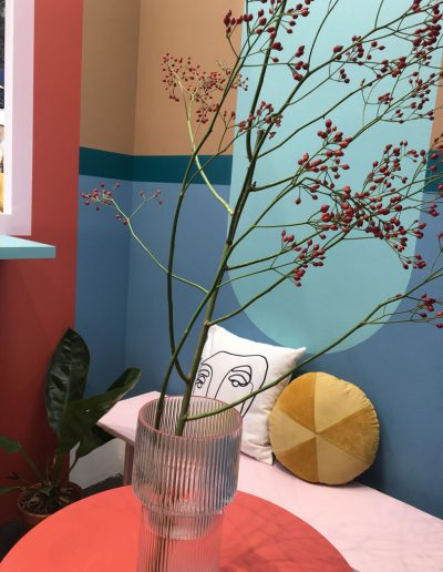 interieurtrend-colorblocking-en-spiced-Honey-Flexa-beursstand-VTWonen&Designbeurs-designfind-by-INintereirus